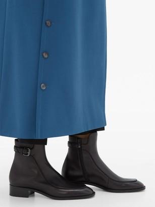 Christian Louboutin Ecritoir Leather Ankle Boots - Black