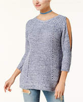 American Rag Juniors' Cold-Shoulder Open-Back Sweater, Created for Macy's