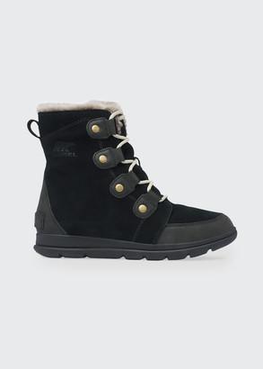 Sorel Explorer Lace-Up Waterproof Suede Boots