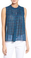 Lucky Brand Women's Pintuck Yoke Tank