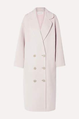 Mansur Gavriel Oversized Double-breasted Wool Coat - Blush