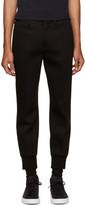 Neil Barrett Black Bonded Jersey Trousers