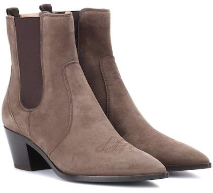 Gianvito Rossi Austin suede Chelsea boots