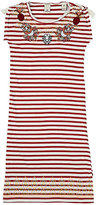 Scotch R'Belle EMBROIDERED-FRUIT STRIPED COTTON DRESS