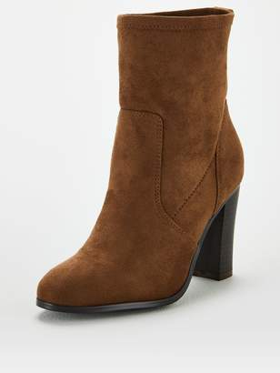 Very Wide Fit Straight Leg Loose Calf Boots - Taupe