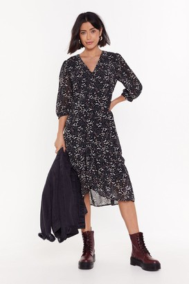 Nasty Gal Womens Find Me in the Garden Floral Maxi Dress - Black - 8