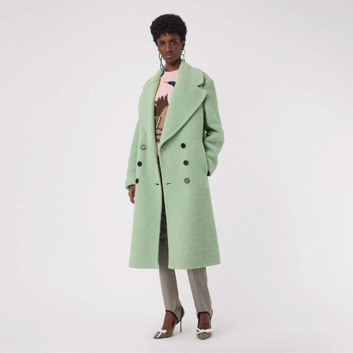 Burberry Double-faced Wool Alpaca Blend Oversized Coat