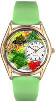 Whimsical Watches Kids' C0140004 Classic Gold Turtles Light Green Leather And Goldtone Watch