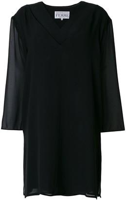 Gianfranco Ferré Pre-Owned Sheer Panel Dress