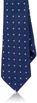 Barneys New York Men's Polka Dot Silk Twill Necktie-BLUE