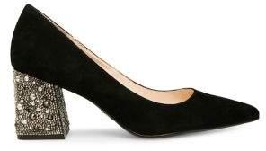 Betsey Johnson Paige Point-Toe Block Heels