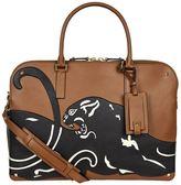 Valentino Garavani Leather Panther Briefcase