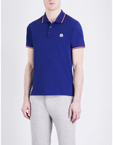 Moncler Contrast-trim Cotton-piqué Polo Shirt