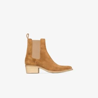 Amiri brown Crepe suede Chelsea boots