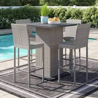 Sol 72 Outdoor Oppelo 5 Piece Bar Height Dinning Set Sol 72 Outdoor