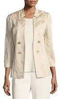 Misook Textured Button-Detail Jacket, Petite