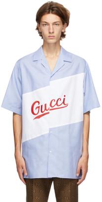 Gucci Blue Oversized Bowling Shirt