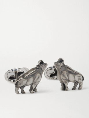 Montblanc Year of the Ox Sterling Silver Cufflinks - Men - Silver