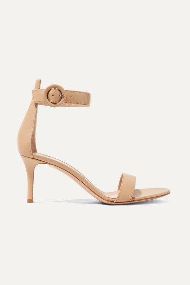 Gianvito Rossi Portofino 70 Leather Sandals - Beige