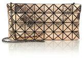 Bao Bao Issey Miyake Platinum Hammered Metallic Faux Leather Clutch