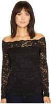 Karen Kane Off the Shoulder Lace Top Women's Clothing