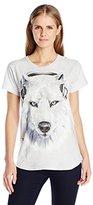 The Mountain Junior's White Wolf DJ Graphic T-Shirt