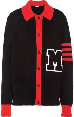 Miu Miu Varsity-Style Two-Tone Cardigan