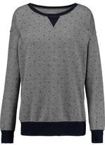 Current/Elliott The Collegiate Printed Cotton-Blend Sweatshirt