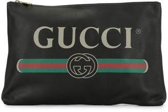 Gucci Pre Owned GG Web logo clutch