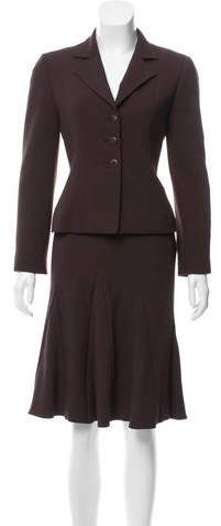 Valentino Wool Skirt Suit