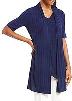 Preston & York Tegan Elbow Sleeve Rib Knit Cardigan