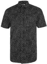 Topman Black and White Short Sleeve Casual Shirt