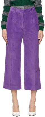 Victoria Beckham Purple Corduroy Trousers