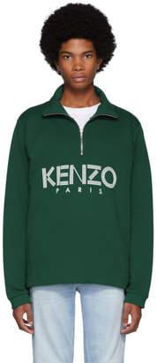 Kenzo Green Sport Half-Zip Sweatshirt