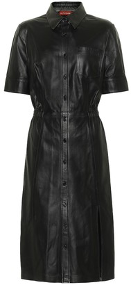 Altuzarra Nori leather shirt dress