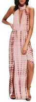 Missguided Women's Tie Dye Halter Maxi Dress