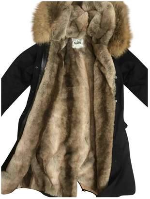 Ducie Navy Cotton Coat for Women