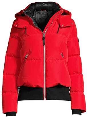 Mackage Aubrie Hooded Down Bomber Jacket
