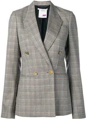 Stella McCartney double breasted check blazer