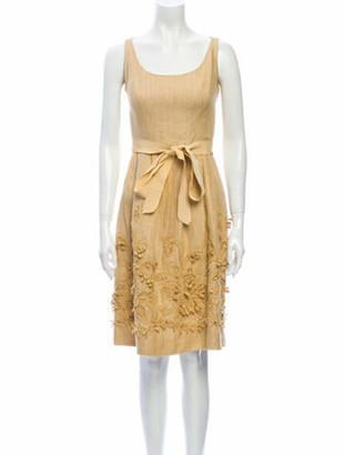 Oscar de la Renta 2007 Knee-Length Dress