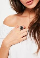 Missguided Stone Statement Ring