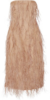 Jason Wu Feather-embellished Silk-organza Dress - Sand