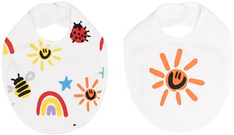 Stella McCartney Kids Two-Pack Motif-Print Bibs