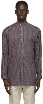 Martin Asbjorn Purple Check Keith Shirt