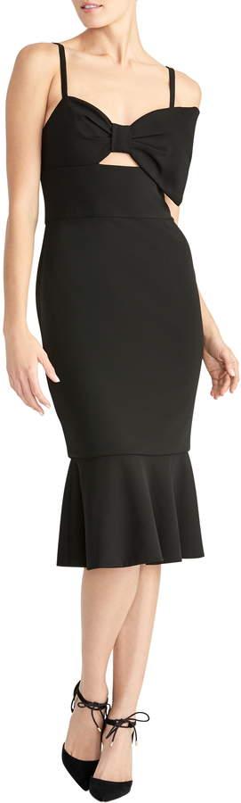 Rachel Roy Cutout Bow Bodice Flounce Dress