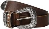 Nocona M&F Western Triple Loops Belt (Little Kids/Big Kids) (Brown) Women's Belts