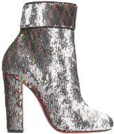 Christian Louboutin Moulamax Silver Multi Paillettes Ankle Boots