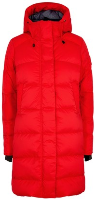 Canada Goose Alliston Red Quilted Shell Coat