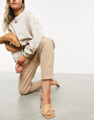 ASOS DESIGN chino pants in stone