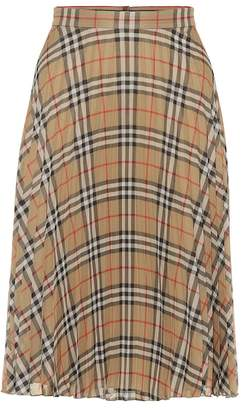 Burberry Check pleated skirt